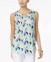 Charter Club Chevron-Print Henley Top, Only at Macy's