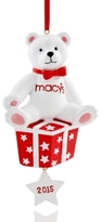 Holiday Lane Macy's Bear 2015 Dated Ornament, Created for Macy's