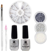 Red Carpet Manicure Gems & Jewels Platinum Ice LED Gel Polish Nail Art Kit