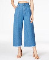 J.o.a. Cotton Cropped Wide-Leg Jeans