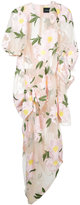 Simone Rocha floral applique sheer dress - women - Cotton/Nylon/Polyester - 6