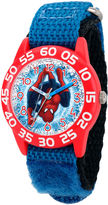 Marvel Boys Blue Ultimate Spiderman Time Teacher Plastic Strap Watch W003228