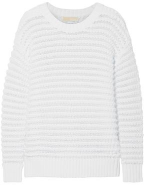MICHAEL Michael Kors Open-knit Cotton-blend Sweater
