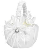 Hortense B. Hewitt Feathered Flair Wedding Collection Flower Basket
