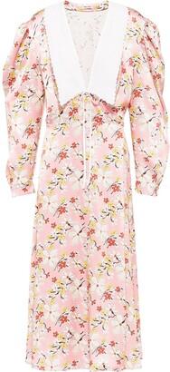 Miu Miu Floral Print Sable Dress