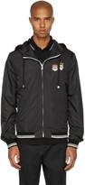 Dolce & Gabbana Black Hooded Zip Jacket
