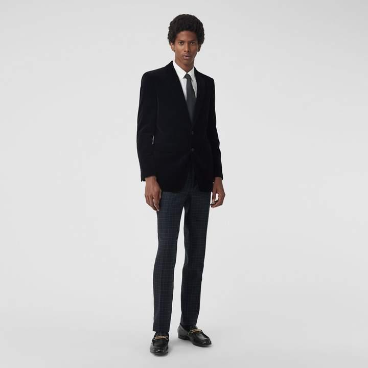 Burberry Classic Fit Velvet Tailored Jacket