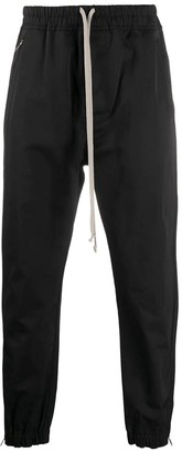 Rick Owens Black Cotton-blend Trousers