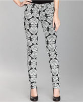 INC International Concepts Jeans, Curvy-Fit Skinny Printed