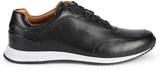 HUGO BOSS Textured Leather Sneakers