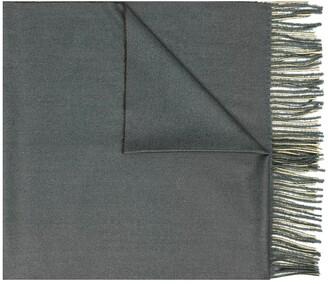Mazzarelli Fine-Knit Fringed-Trim Scarf