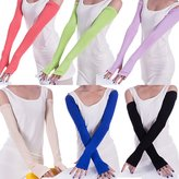 Cityelf Women' Driving Anti UV Half Palm Longleeve Leg Protection Glove(Wh)