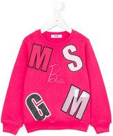 MSGM Barbie sweatshirt - kids - Cotton - 4 yrs