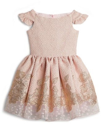 David Charles Gold Wash Cap-Sleeve Dress (8-16 Years)