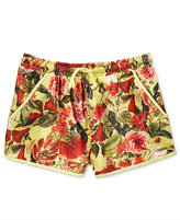 GUESS Floral-Print Cotton Shorts, Big Girls (7-16)