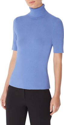 Anne Klein Short Sleeve Turtleneck Top