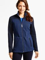 Talbots Quilted Jacquard Jacket