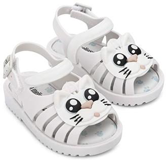 Mini Melissa Francxs Cat BB (Toddler/Little Kid) (White/Black) Girl's Shoes
