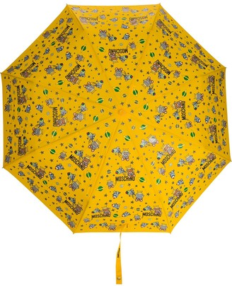 Moschino Space-Themed Logo-Print Umbrella