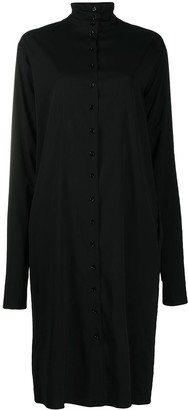 Lemaire High Neck Button-Down Dress
