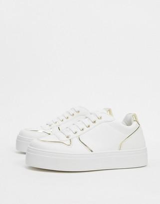 ASOS DESIGN Dessie flatform chunky sneakers in white
