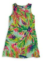 Lilly Pulitzer Girl's Suzy Palm-Print Dress