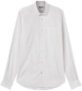 Jigsaw Poplin Slim Shirt, White