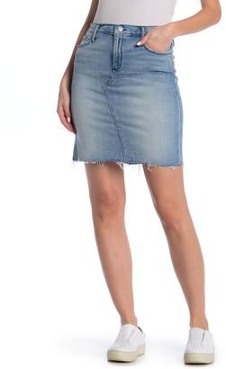 Black Orchid Nina Frayed Mini Denim Skirt