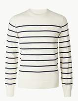 M&S Collection Cotton Rich Striped Jumper