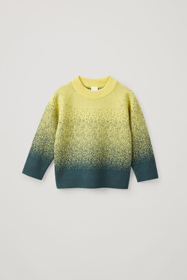 Cos Cashmere-Wool Mix Abstract Fair Isle Knit Sweater