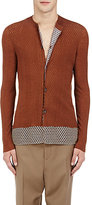 Lanvin MEN'S CREPE-LINED COMBO CARDIGAN