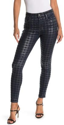 Fidelity Luna Metallic Houndstooth Skinny Jeans