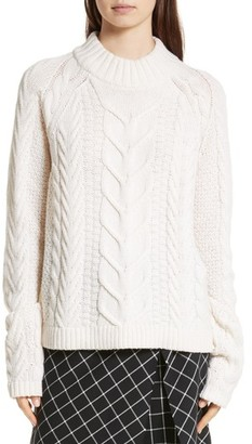 Robert Rodriguez Cable Knit Merino Wool & Cashmere Sweater