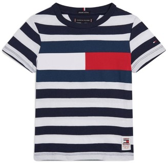 Tommy Hilfiger Junior Cotton Flag Print T-Shirt