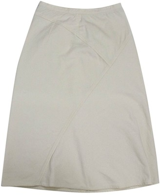 Max Mara Weekend White Cotton Skirt for Women