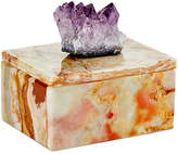 Mapleton Drive Small Onyx Box with Amethyst