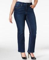 Melissa McCarthy Trendy Plus Size Livia Blue Wash Bootcut Jeans