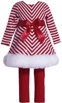 Bonnie Baby Baby Girls' Mrs Claus Santa Christmas Dress & Leggings 24M (X13717)