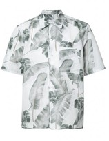 Oamc feather print shortsleeved shirt
