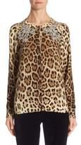 Dolce & Gabbana Leopard-Print Cashmere Cardigan