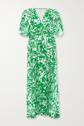 Eres Crayfish Printed Cotton-voile Kaftan - Green