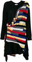 Sonia Rykiel draped stripe sweater dress