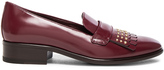 Alexander McQueen Stud Fringe Leather Loafers
