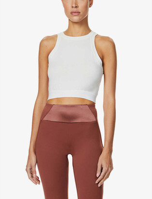 Vaara Leigh cropped stretch-bamboo top