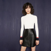 Maje Short embossed vinyl skirt