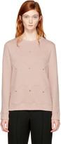 Valentino Pink Scalloped Rockstud Sweatshirt