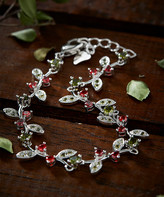 Amy And Annette Amy and Annette Women's Bracelets Silver - Peridot & Sterling Silver Bracelet
