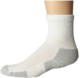 Thorlos Running Crew Single Pair (White/Platinum) Quarter Length Socks Shoes