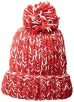 San Diego Hat Company KNH3590 Chunky Marled Knit Beanie with Pom (Red) Beanies