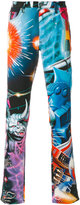 Moschino printed trousers - men - Cotton/Other fibres - 46